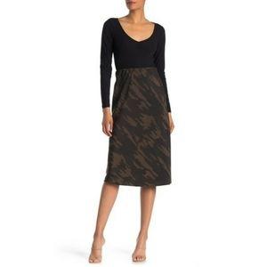 Sanctuary Bias Pull-On Midi Skirt